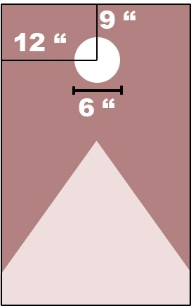 exact position of cornhole hole