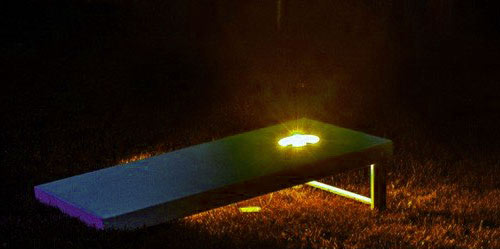 Lighted cornhole boards