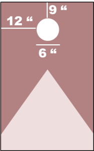 Cornhole hole position