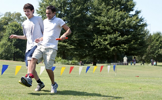 Three-legged race