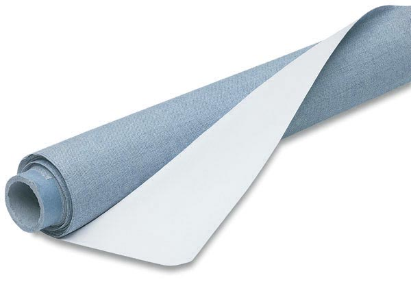 Canvas fabric role