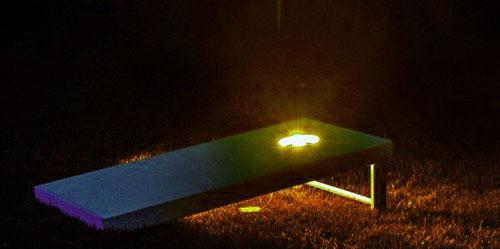 Cornhole night light set for boards