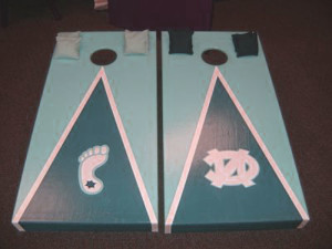 UNC mate decal with strong and lite blue color
