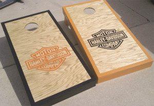 Wood and black organ combination of harley davidson board