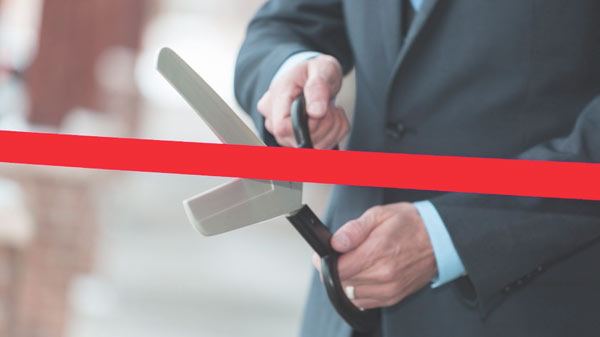 ribbon cutting for opening the tournament