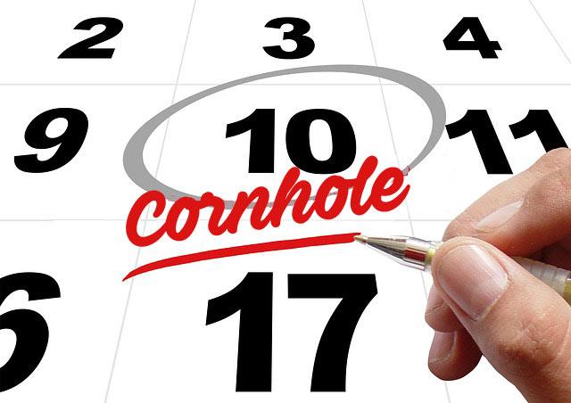 Cornhole calendar timing for organizing a championship