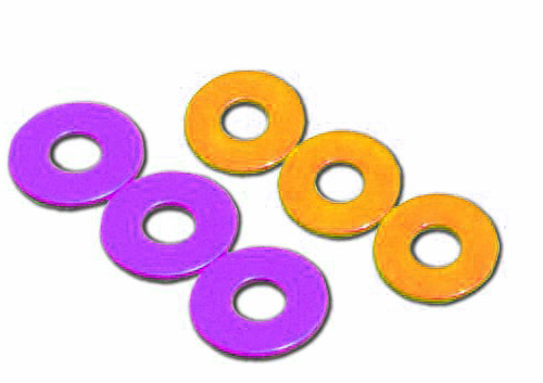 six washers for washer toss game