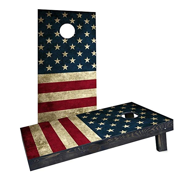 "Custom Cornhole Boards ""American Flag"" Cornhole Boards (Heavy Duty), 2' X 4'"