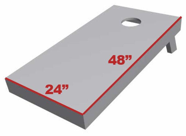 Cornhole board length and width