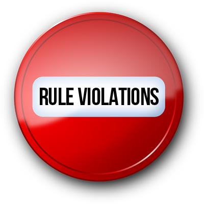 Violation of rules of the game