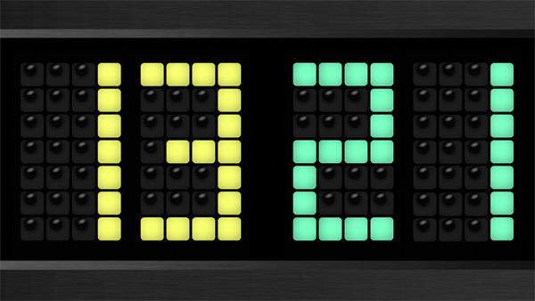 Scoreboard in the game