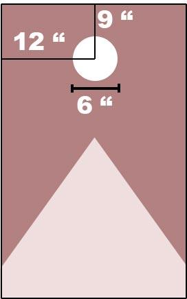 Cornhole board's hole position