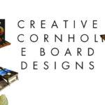 cornhole boards with attractive designs