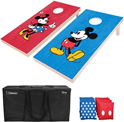 Mickey and Mini cornhole boards