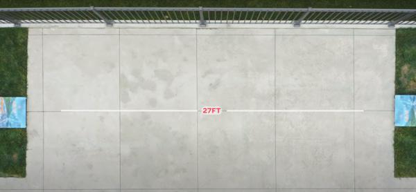 how far should be the cornhole boards