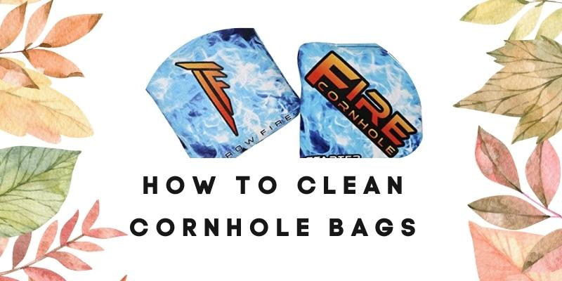 cornhole bag cleaning